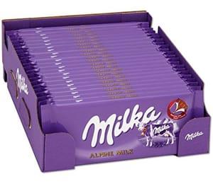 Milka Alpine Milk Original Chocolate 100g (20 Bars)