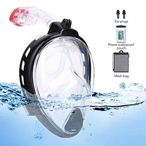 180°Wide View Full Face Snorkel Mask with Sports Camera Mount