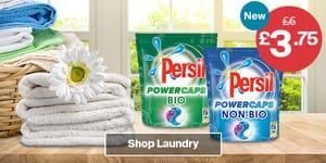 Persil Powercaps Bio/Non Bio Washing Capsules, 19 Washes, 513g at Iceland