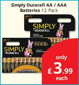 12 Pack of AA/AAA Duracell Batteries