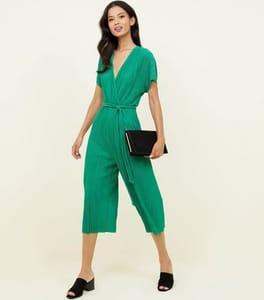 Green Wrap Playsuit