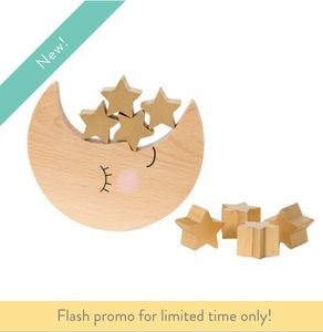 Sweet Dreams Moon & Stars Wooden Balancing Game