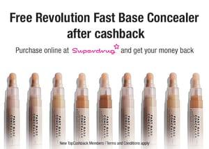 Free Revolution Fast Base Concealer for New Sign-ups at TopCashback