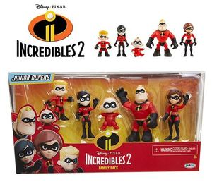 The Incredibles 2 Family Pack - 5 Junior Supers Action Figures