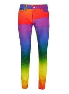 Rainbow Stretch Skinny Jeans