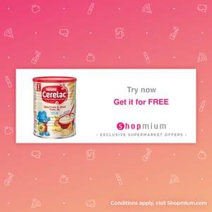Free CERELAC® Infant Cereals