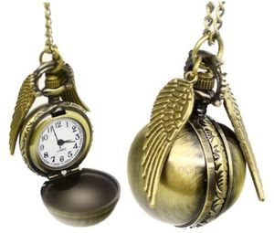 Harry Potter Golden Snitch Watch Necklace/ Quidditch Pocket Clock