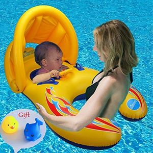 50% off Mum & Baby Swimming Inflatable (With Sun Shade)