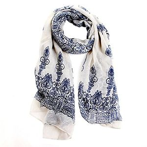 Patterned Scarf Cream FREE DELIVERY