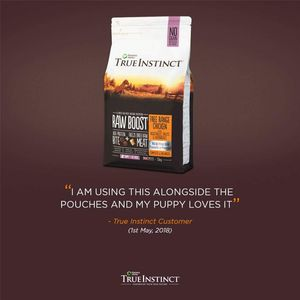 Free 1.5kg True Instinct Dog Food