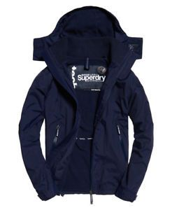 New Mens Superdry Arctic Hooded Cliff Hiker Jacket Nautical Navy