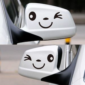 Smily Face Wing Mirror Decal Free Del