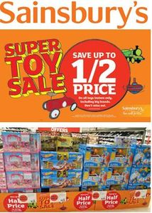 When is the SAINSBURY'S HALF PRICE TOY SALE 2018 Start Date?