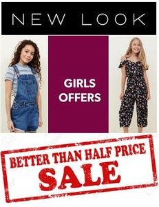 NEW LOOK GIRLS / TEENS SALE - Better than HALF PRICE BARGAINS!