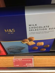 Half Price M&S Milk Chocolate Selection