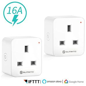 2 X WiFi Smart Plug Socket Alexa, Echo, Google Home and IFTTT