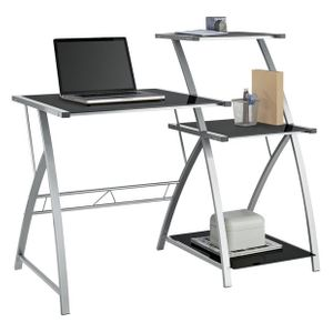 Argos Home Glass Desk with Shelf