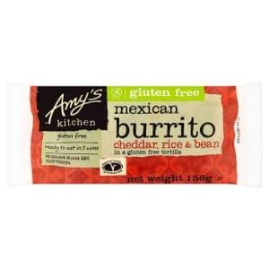 Amy's Kitchen Cheddar, Rice & Bean Burrito 156g