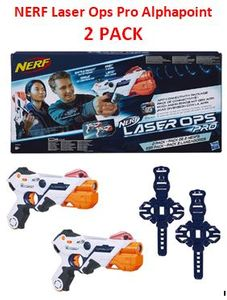 NERF Laser Ops Pro Alphapoint Blasters 2 PACK. As Seen on Phillip Schofield Show
