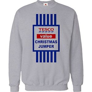 Christmas Jumper Sweater Mens Funny Tops Tesco Value Sweat Shirt Xmas Gift