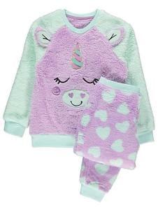 Unicorn Fleece Pyjama Gift Set Only £6.00
