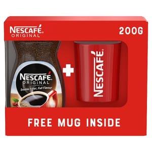 Nescafe Original Instant Coffee with Free Mug 200G