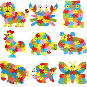 Wooden Animal Jigsaw Puzzle Wooden Alphabet Blocks -Only £5.99