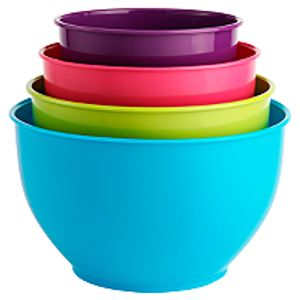 4 Piece Coloured Mixing Bowls