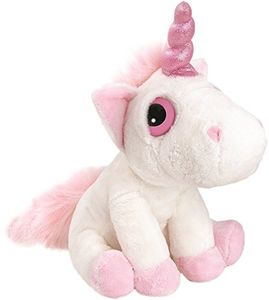 Suki Gifts Mystical Little Peepers Unicorn Plush Toy (White and Pink, Small)