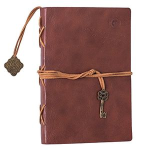 Firbon Notebook Thick Leather PU Soft Cover Notepad Vintage Classic Journal