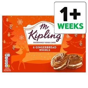 Mr Kipling Gingerbread Whirls 6 Pack