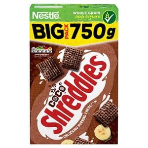 Half Price Nestle Shreddies Coco Cereal 750G