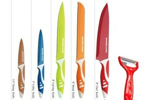 6pc Colourful Kitchen Knife Set