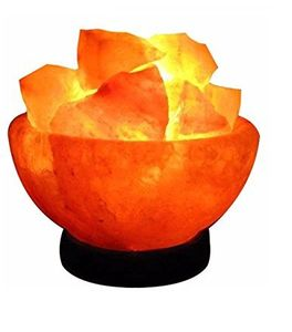 USB Firebowl Natural Healing IONES 100% Pure Himalayan Crystal Salt Lamps