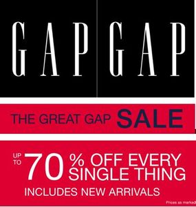 Gap Sale - up to 70% off EVERYTHING until Saturday