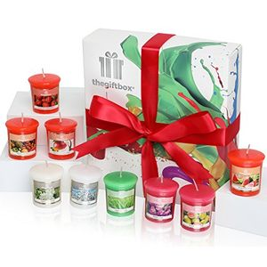 Scented Candle Gift Set by the Gift Box 9 Individual Beautifully Scented Candles