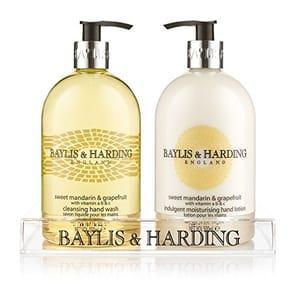 Baylis & Harding Sweet Mandarin & Grapefruit 500ml Hand Wash and Hand Lotion Set