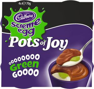 Cadbury Creme Egg Pots of Joy, Limited Edition 4x70g
