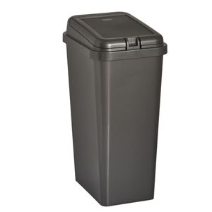 Wilko Rectangular Touch Top Bin Grey 45L
