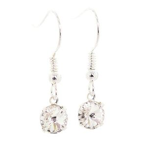 Drop Earrings Made with Sparkling Diamond White Crystal from SWAROVSKI 99p