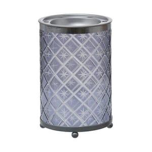 Yankee Candle Winter Accessories - Grey Etched Star (Melt Warmer / Tart Burner)