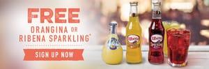 FREE Orangina or Ribena Sparkling Juice