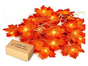 HENMI Maple Leaf String Lights,Decorative Lights