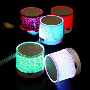 LED Portable Bluetooth Speakers Mini Wireless Speaker with USB and TF Port
