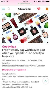 Free Goody Bag with Beauty/fragrance or Orders