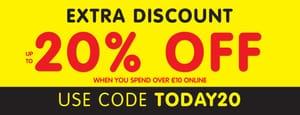 Extra 20% off When Spending £10 Online