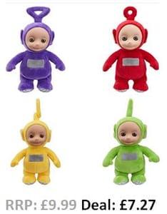 Teletubbies Talking Plush Toys - Tinky Winky, Dipsy, Laa-Laa, Po