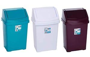 High Grade 8L Ice White Wham Plastic Flip Top Waste Bin