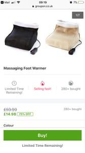Massaging Foot Warmer