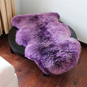 Sheepskin Rug Super-Soft Zealand Fur Throw Rug Sofa, Bed Floor Decor